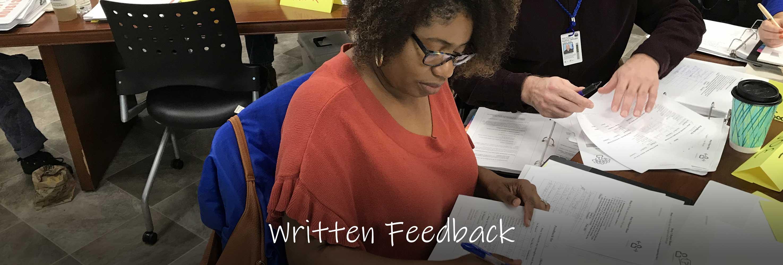 Written feedback